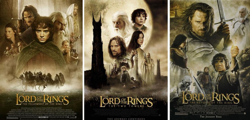 The Lord of the Rings Triolgy posters