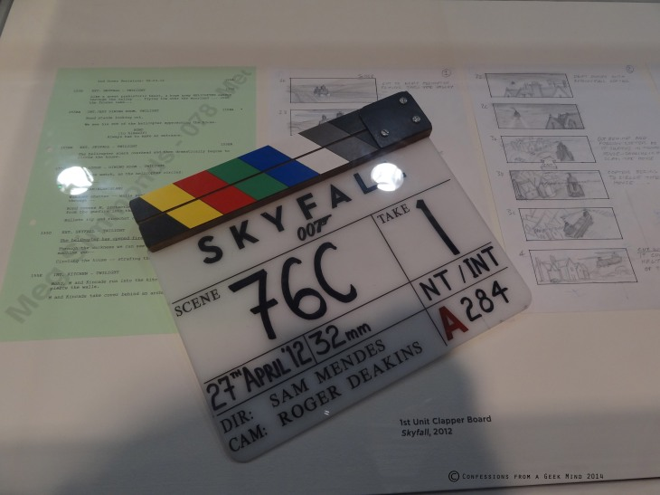 Bond in Motion - Skyfall Clapperboard