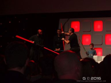 The irony - Ray Park (Darth Maul) fighting Darth Maul