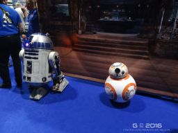 BB-8 and R2-D2 chilling out together