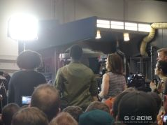 John Boyega and Kathleen Kennedy on the Star Wars.com live stage